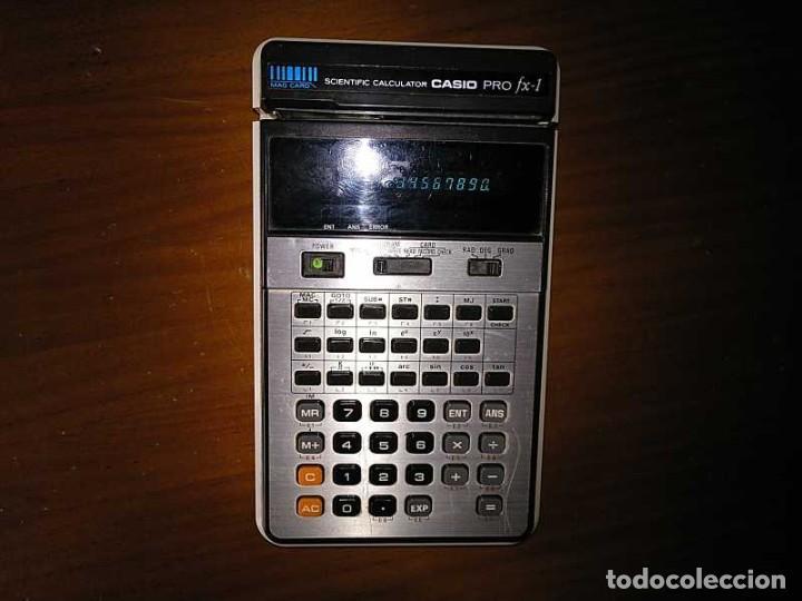 Antigüedades: CALCULADORA CASIO PRO FX-1 SCIENTIFIC CALCULATOR AÑOS 70 FUNCIONANDO CON LECTOR DE TARJETAS MAGNETIC - Foto 90 - 216992010