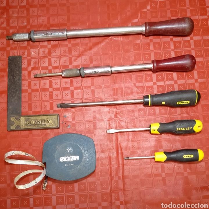 Antigüedades: Lote Stanley. Antiguas herramientas de carpintería. Todas en uso. - Foto 7 - 216997467