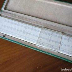 Antigüedades: REGLA DE CÁLCULO FABER CASTELL 111/54 DARMSTADT CON SU CAJA SLIDE RULE RECHENSCHIEBER KEISANJYAKU. Lote 217003823