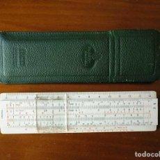 Antigüedades: 67/98 B ELEKTRO REGLA DE CALCULO FABER CASTELL CON FUNDA CALCULADORA SLIDE RULE KEISANJYAKU. Lote 217013433