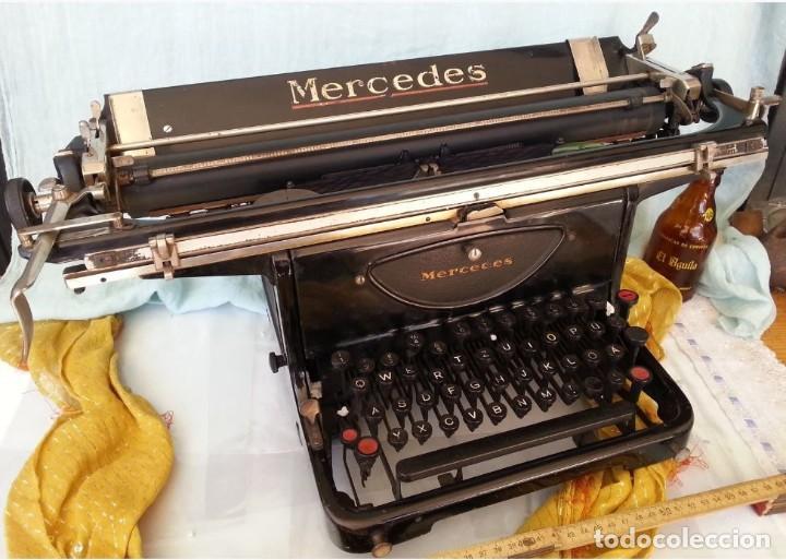 MÁQUINA ESCRIBIR MARCA MERCEDES. ANTIGUA. GRAN FORMATO. TYPEWRITER OLD (Antigüedades - Técnicas - Máquinas de Escribir Antiguas - Mercedes)