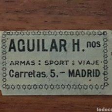 Antigüedades: RARÍSIMA Y UNICA LAMETTA DA BARBA. HOJA DE AFEITAR. RAZOR BLADE. AGUILAR H.NOS. MADRID. Lote 217101400