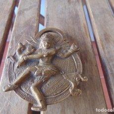 Antigüedades: CANDADO EN METAL,MARCADO INDIA DIOSA ESTA ABIERTO , NO TIENE LA LLAVE. Lote 217139787