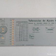 Oggetti Antichi: REGLA DE CALCULO TOLERANCIAS DE AJUSTE ISA -VAGMA Nº 5 - A. RICOY - AGUJERO UNICO H7. Lote 217174267