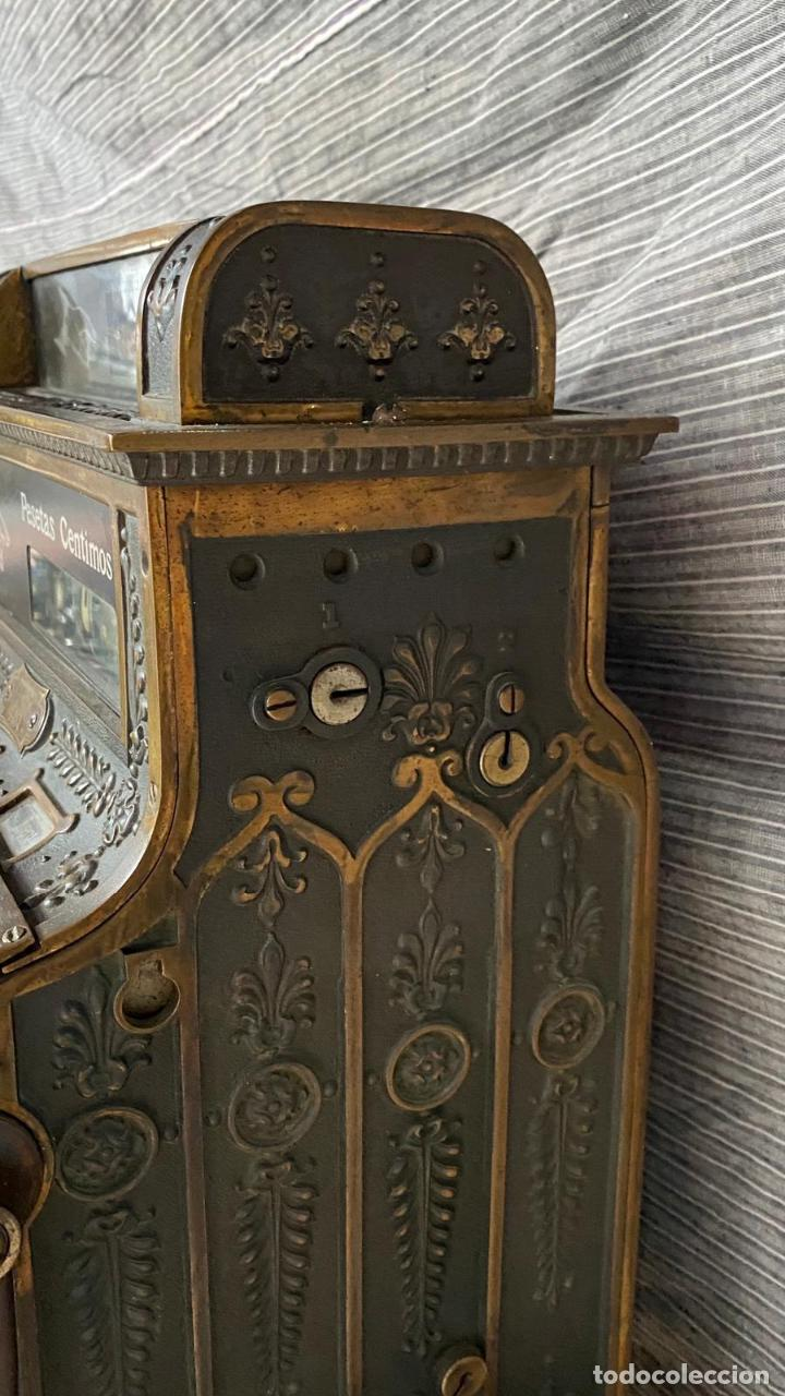 Antigüedades: PRECIOSA CAJA REGISTRADORA NATIONAL SIGLO XIX - Modelo con metal repujado - Foto 6 - 217205650