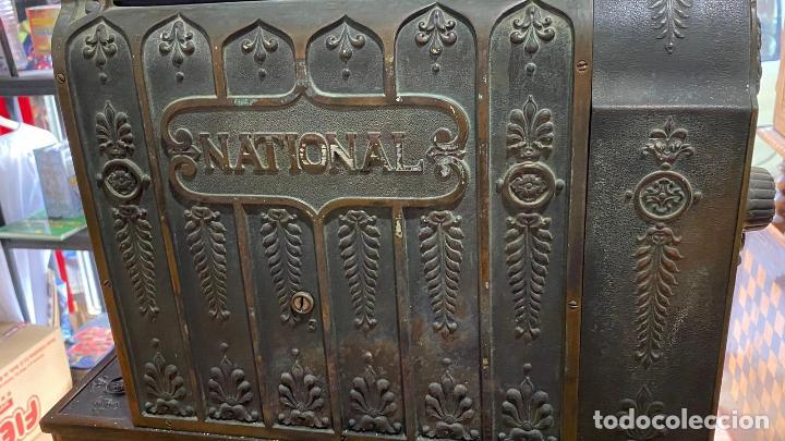 Antigüedades: PRECIOSA CAJA REGISTRADORA NATIONAL SIGLO XIX - Modelo con metal repujado - Foto 10 - 217205650