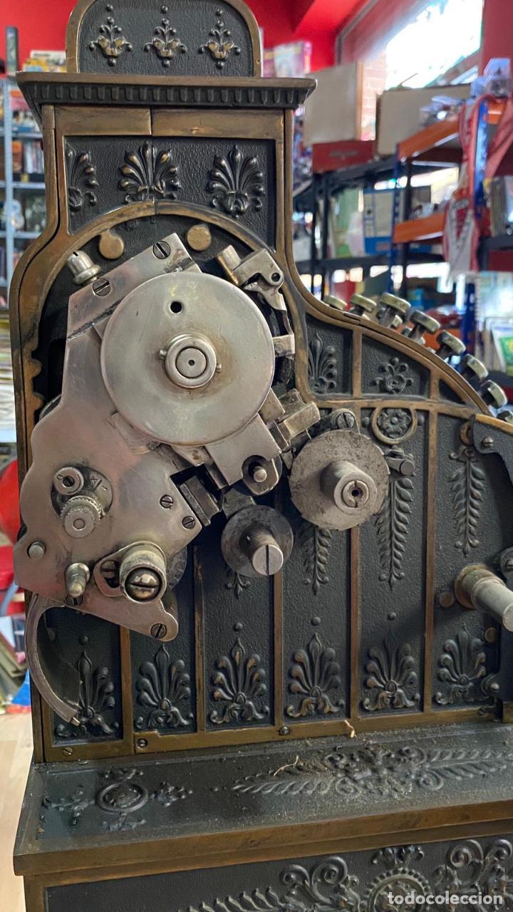 Antigüedades: PRECIOSA CAJA REGISTRADORA NATIONAL SIGLO XIX - Modelo con metal repujado - Foto 11 - 217205650