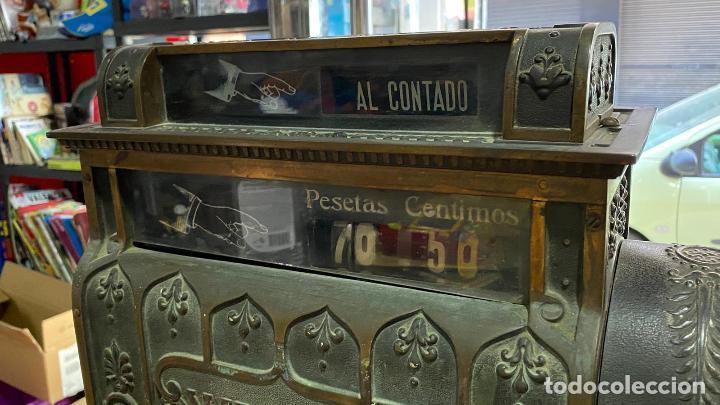 Antigüedades: PRECIOSA CAJA REGISTRADORA NATIONAL SIGLO XIX - Modelo con metal repujado - Foto 13 - 217205650