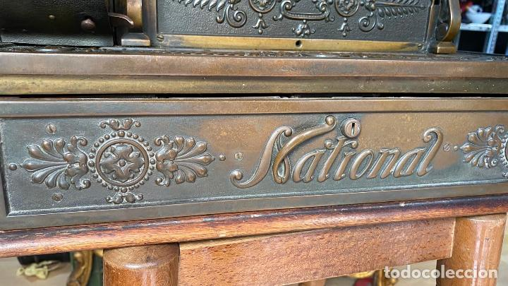 Antigüedades: PRECIOSA CAJA REGISTRADORA NATIONAL SIGLO XIX - Modelo con metal repujado - Foto 20 - 217205650