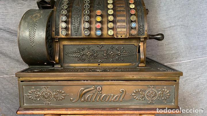 Antigüedades: PRECIOSA CAJA REGISTRADORA NATIONAL SIGLO XIX - Modelo con metal repujado - Foto 8 - 217205650
