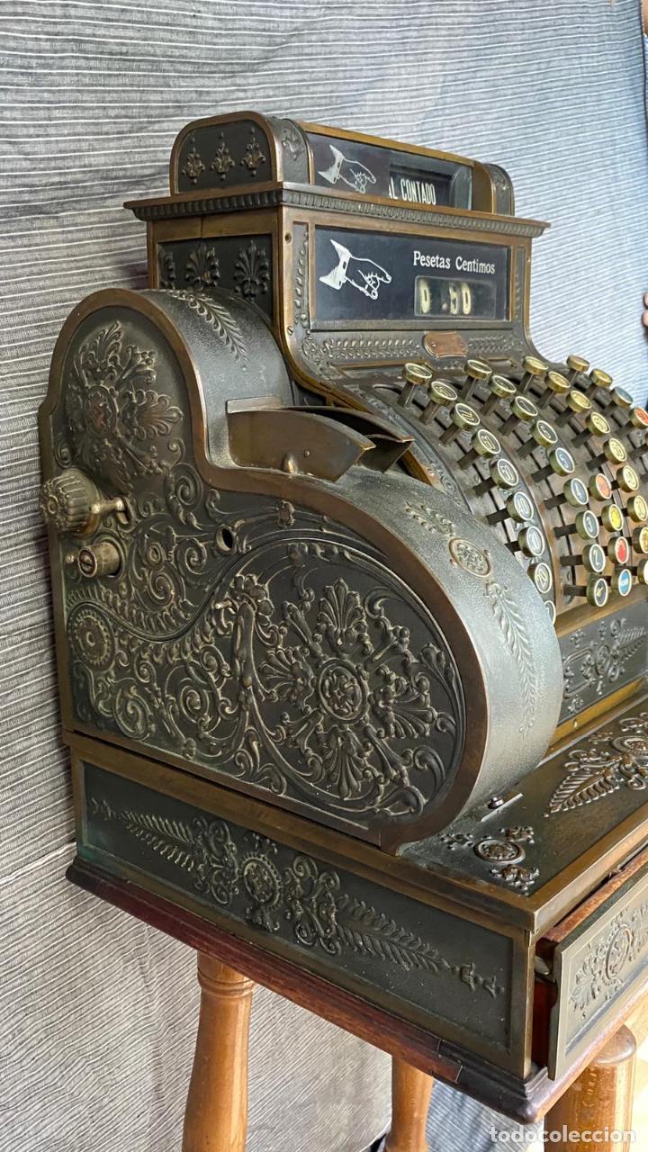 Antigüedades: PRECIOSA CAJA REGISTRADORA NATIONAL SIGLO XIX - Modelo con metal repujado - Foto 16 - 217205650
