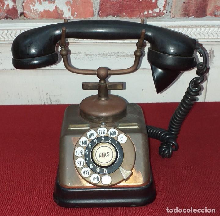 ANTIGUO TELÉFONO AKTIESELSKAB - KJOBENHAVNS TELEFON (Antigüedades - Técnicas - Teléfonos Antiguos)