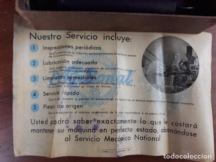 Antigüedades: PRECIOSA CAJA REGISTRADORA NATIONAL SIGLO XIX - Modelo con metal repujado - Foto 27 - 217205650