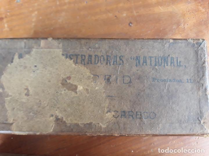 Antigüedades: PRECIOSA CAJA REGISTRADORA NATIONAL SIGLO XIX - Modelo con metal repujado - Foto 28 - 217205650