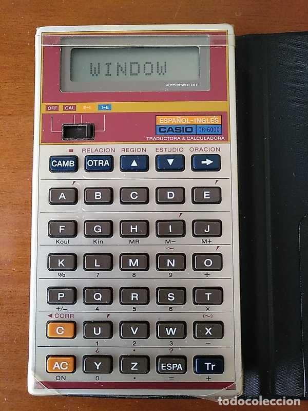 Antigüedades: CASIO TR-6000 CALCULADORA TRADUCTOR TRADUCTORA TRANSLATOR & CALCULATOR FUNCIONANDO CON FUNDA JAPAN - Foto 50 - 217244638