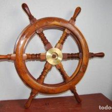 Antigüedades: PRECIOSO TIMÓN DE MADERA NOBLE - DIÁMETRO 61 CM. Lote 217259597
