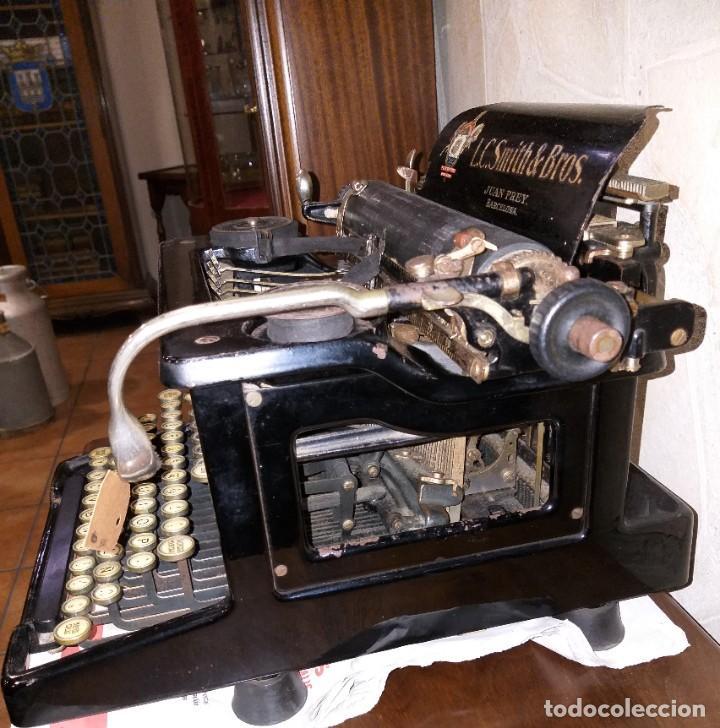 Antigüedades: MÁQUINA DE ESCRIBIR LC SMITH & BROS Nº 8, U.S.A DISTRIBUIDOR JUAN FREY BARCELONA CIRCA 1928 - Foto 9 - 217262405