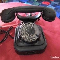 Teléfonos: TELÉFONO DE MESA ALEMÁN ANTIGUO DE METAL Y BAQUELITA MODELO W28 HECHO EN ALEMANIA EN EL AÑO 1938. Lote 217318955