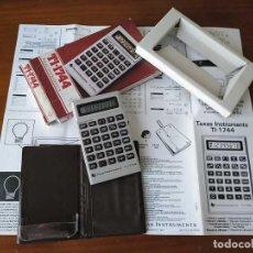 Antigüedades: CALCULADORA TI-1744 TEXAS INSTRUMENTS FUNCIONANDO DE 1981 TI1744 AUTO SHUT OFF ELECTRONIC CALCULATOR. Lote 217335661
