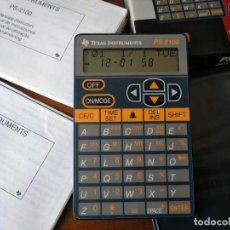 Antigüedades: TEXAS INSTRUMENTS PS-2100 DATA BANK CALCULADORA RELOJ CLOCK SCHEDULER CALCULATOR. Lote 217350226