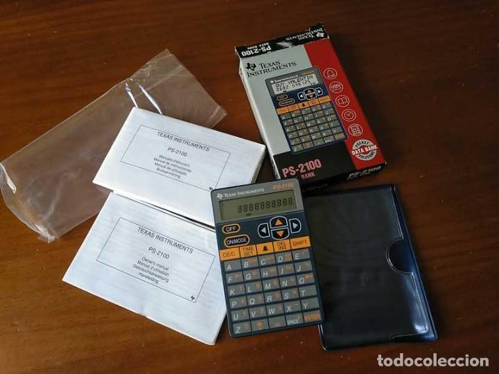 Antigüedades: TEXAS INSTRUMENTS PS-2100 DATA BANK CALCULADORA RELOJ CLOCK SCHEDULER CALCULATOR - Foto 3 - 217350226