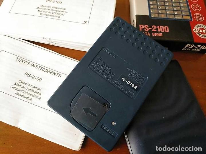 Antigüedades: TEXAS INSTRUMENTS PS-2100 DATA BANK CALCULADORA RELOJ CLOCK SCHEDULER CALCULATOR - Foto 4 - 217350226