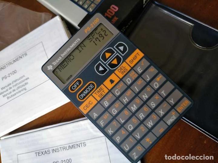 Antigüedades: TEXAS INSTRUMENTS PS-2100 DATA BANK CALCULADORA RELOJ CLOCK SCHEDULER CALCULATOR - Foto 12 - 217350226