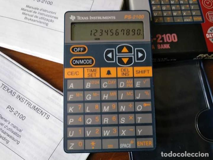 Antigüedades: TEXAS INSTRUMENTS PS-2100 DATA BANK CALCULADORA RELOJ CLOCK SCHEDULER CALCULATOR - Foto 13 - 217350226