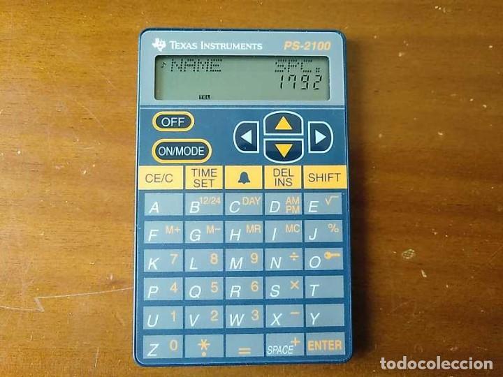 Antigüedades: TEXAS INSTRUMENTS PS-2100 DATA BANK CALCULADORA RELOJ CLOCK SCHEDULER CALCULATOR - Foto 16 - 217350226