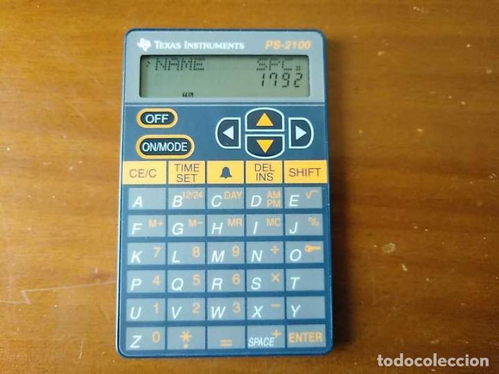 Antigüedades: TEXAS INSTRUMENTS PS-2100 DATA BANK CALCULADORA RELOJ CLOCK SCHEDULER CALCULATOR - Foto 17 - 217350226