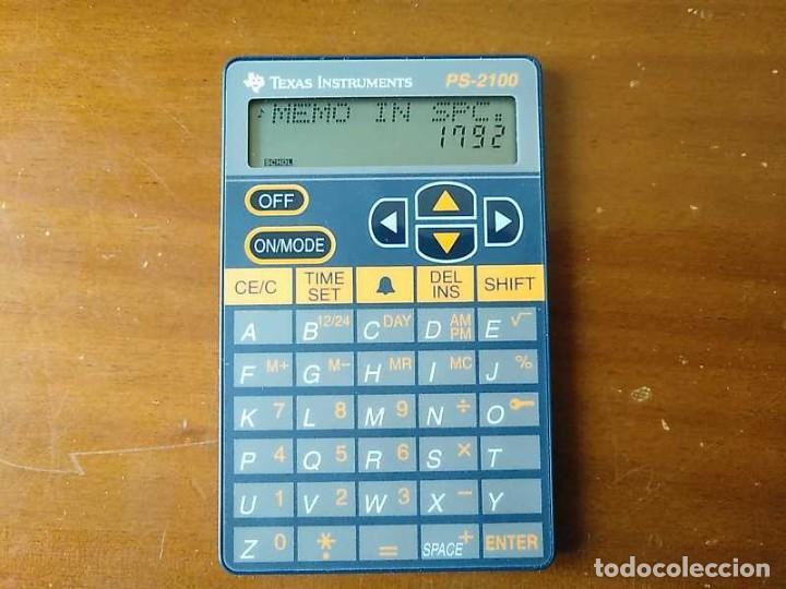Antigüedades: TEXAS INSTRUMENTS PS-2100 DATA BANK CALCULADORA RELOJ CLOCK SCHEDULER CALCULATOR - Foto 18 - 217350226