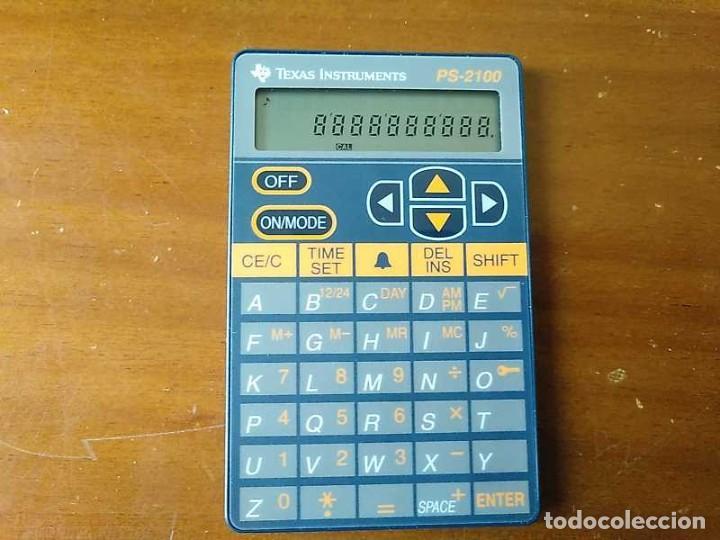 Antigüedades: TEXAS INSTRUMENTS PS-2100 DATA BANK CALCULADORA RELOJ CLOCK SCHEDULER CALCULATOR - Foto 19 - 217350226