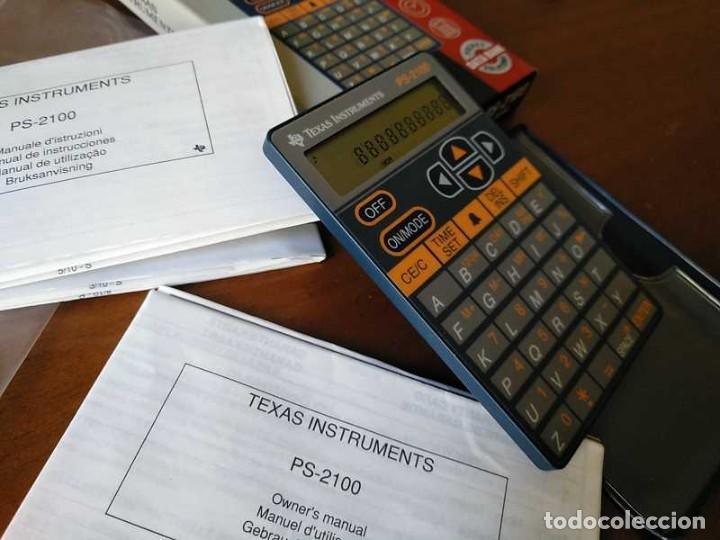 Antigüedades: TEXAS INSTRUMENTS PS-2100 DATA BANK CALCULADORA RELOJ CLOCK SCHEDULER CALCULATOR - Foto 21 - 217350226