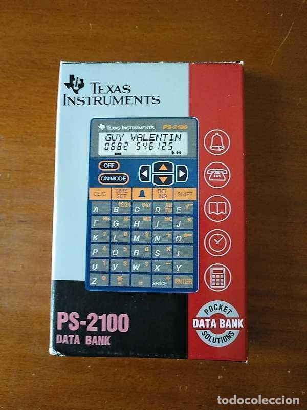Antigüedades: TEXAS INSTRUMENTS PS-2100 DATA BANK CALCULADORA RELOJ CLOCK SCHEDULER CALCULATOR - Foto 25 - 217350226