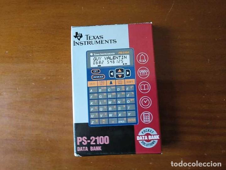 Antigüedades: TEXAS INSTRUMENTS PS-2100 DATA BANK CALCULADORA RELOJ CLOCK SCHEDULER CALCULATOR - Foto 26 - 217350226
