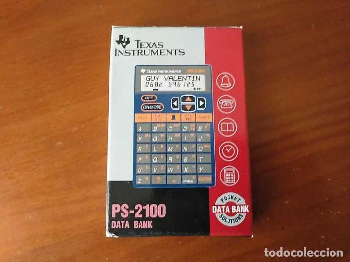 Antigüedades: TEXAS INSTRUMENTS PS-2100 DATA BANK CALCULADORA RELOJ CLOCK SCHEDULER CALCULATOR - Foto 30 - 217350226