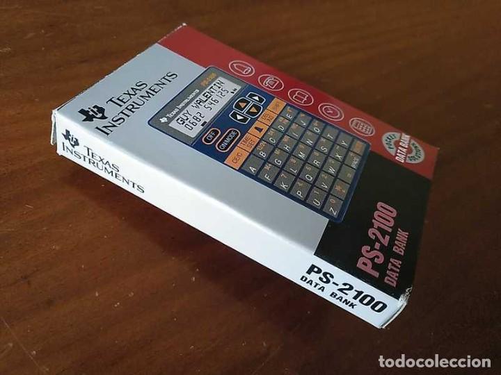 Antigüedades: TEXAS INSTRUMENTS PS-2100 DATA BANK CALCULADORA RELOJ CLOCK SCHEDULER CALCULATOR - Foto 32 - 217350226