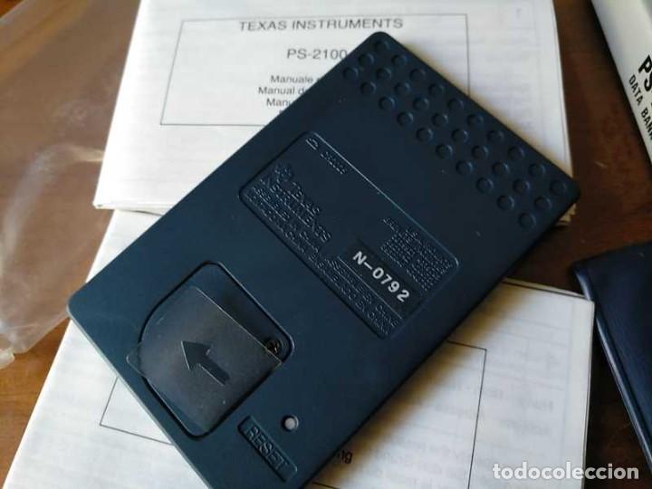 Antigüedades: TEXAS INSTRUMENTS PS-2100 DATA BANK CALCULADORA RELOJ CLOCK SCHEDULER CALCULATOR - Foto 39 - 217350226