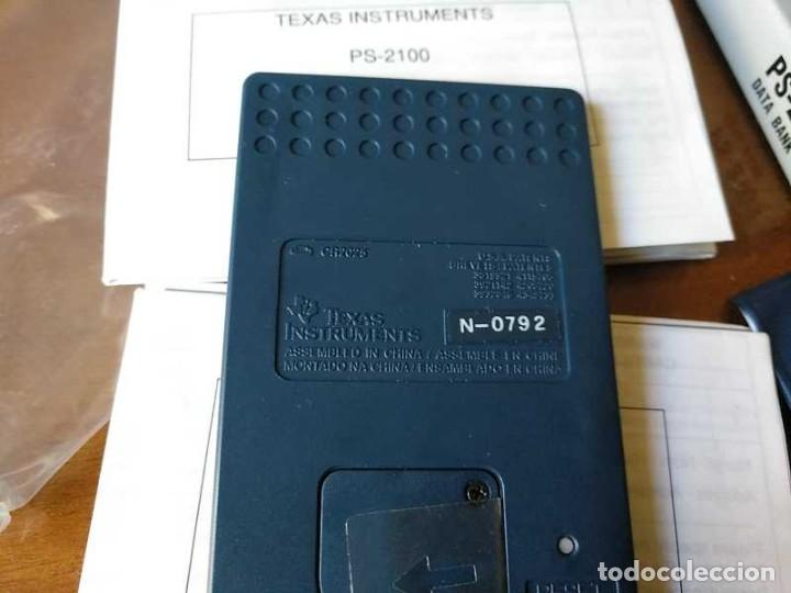 Antigüedades: TEXAS INSTRUMENTS PS-2100 DATA BANK CALCULADORA RELOJ CLOCK SCHEDULER CALCULATOR - Foto 40 - 217350226
