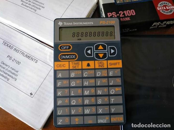 Antigüedades: TEXAS INSTRUMENTS PS-2100 DATA BANK CALCULADORA RELOJ CLOCK SCHEDULER CALCULATOR - Foto 44 - 217350226