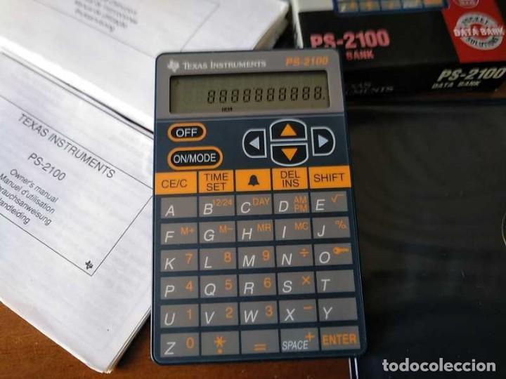 Antigüedades: TEXAS INSTRUMENTS PS-2100 DATA BANK CALCULADORA RELOJ CLOCK SCHEDULER CALCULATOR - Foto 48 - 217350226