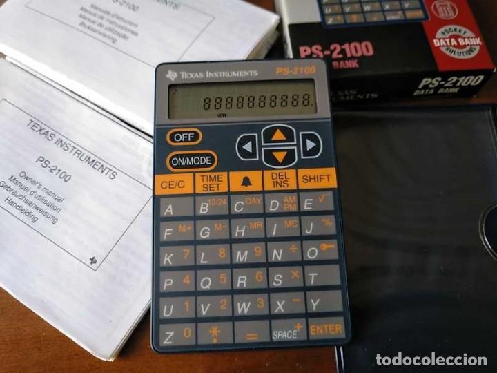 Antigüedades: TEXAS INSTRUMENTS PS-2100 DATA BANK CALCULADORA RELOJ CLOCK SCHEDULER CALCULATOR - Foto 49 - 217350226