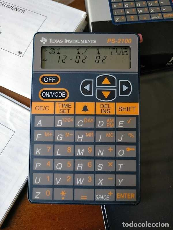 Antigüedades: TEXAS INSTRUMENTS PS-2100 DATA BANK CALCULADORA RELOJ CLOCK SCHEDULER CALCULATOR - Foto 53 - 217350226