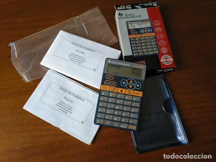 Antigüedades: TEXAS INSTRUMENTS PS-2100 DATA BANK CALCULADORA RELOJ CLOCK SCHEDULER CALCULATOR - Foto 54 - 217350226