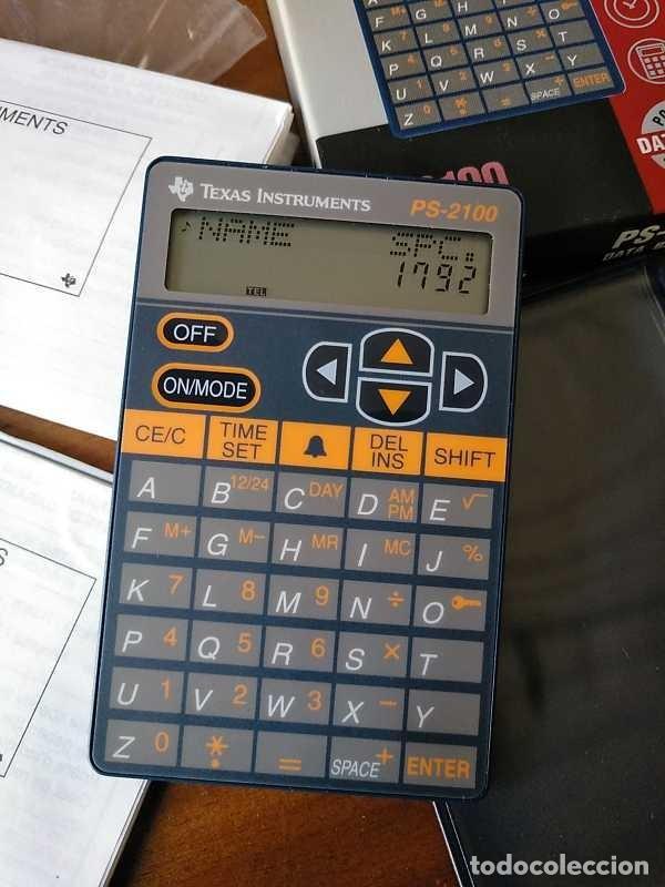 Antigüedades: TEXAS INSTRUMENTS PS-2100 DATA BANK CALCULADORA RELOJ CLOCK SCHEDULER CALCULATOR - Foto 55 - 217350226