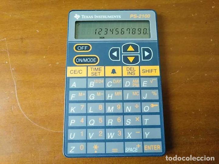 Antigüedades: TEXAS INSTRUMENTS PS-2100 DATA BANK CALCULADORA RELOJ CLOCK SCHEDULER CALCULATOR - Foto 63 - 217350226