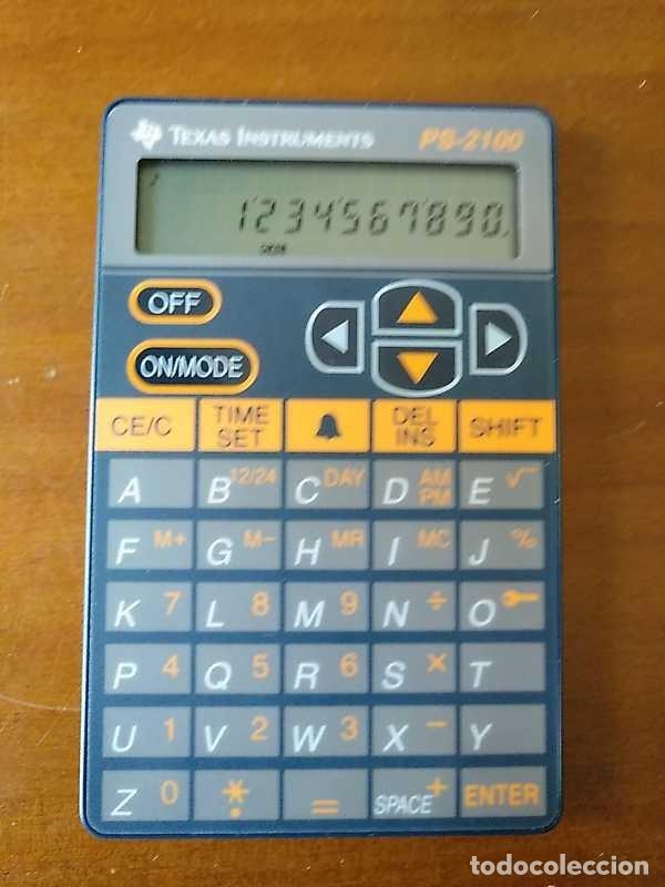 Antigüedades: TEXAS INSTRUMENTS PS-2100 DATA BANK CALCULADORA RELOJ CLOCK SCHEDULER CALCULATOR - Foto 64 - 217350226
