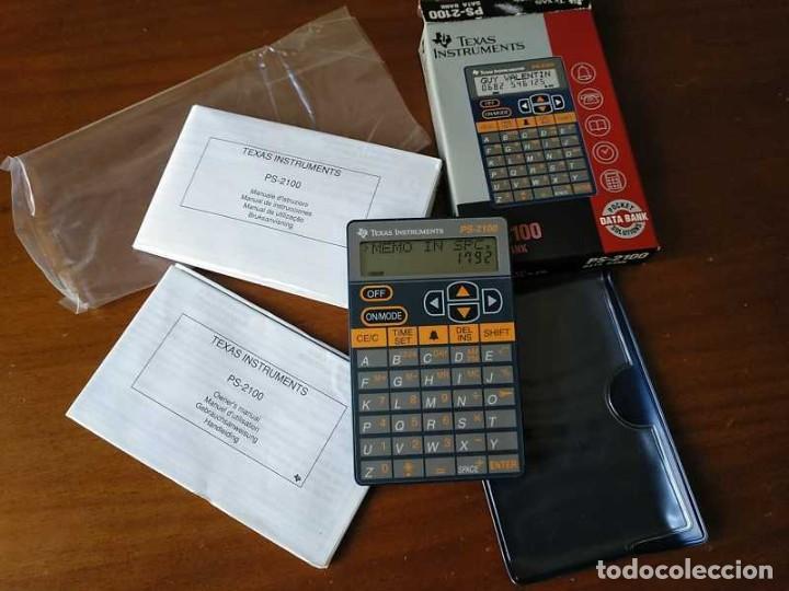 Antigüedades: TEXAS INSTRUMENTS PS-2100 DATA BANK CALCULADORA RELOJ CLOCK SCHEDULER CALCULATOR - Foto 73 - 217350226