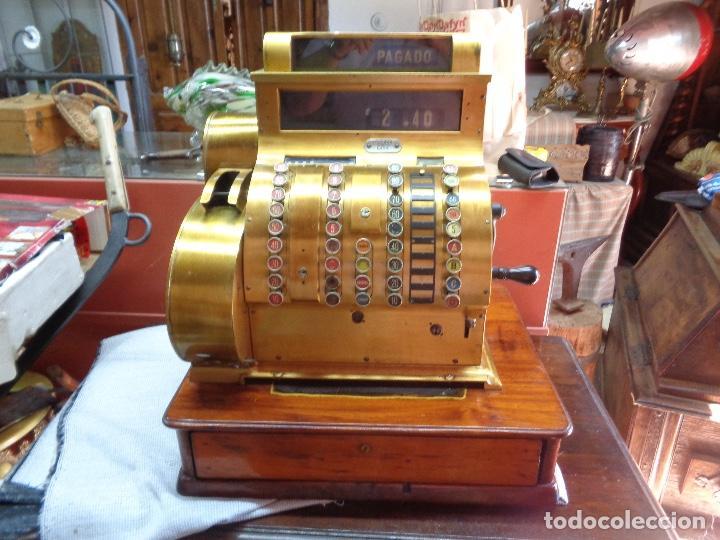 MAQUINA REGISTRADORA NATIONAL FUNCIONANDO (Antigüedades - Técnicas - Aparatos de Cálculo - Cajas Registradoras Antiguas)