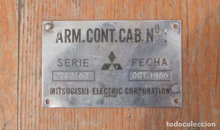 PLACA SEÑALÉTICA CABINA DE CONDUCCIÓN TREN. RENFE (Antigüedades - Técnicas - Varios)